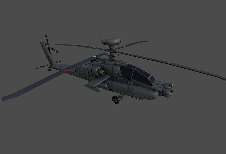 AH64 Apache Longbow royalty-free 3d model - Preview no. 1