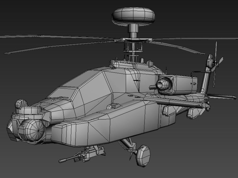 AH64 Apache Longbow royalty-free 3d model - Preview no. 5