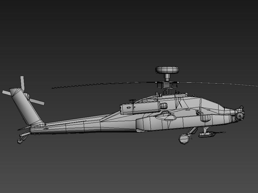 AH64 Apache Longbow royalty-free 3d model - Preview no. 3