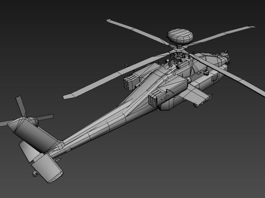 AH64 Apache Longbow royalty-free 3d model - Preview no. 4