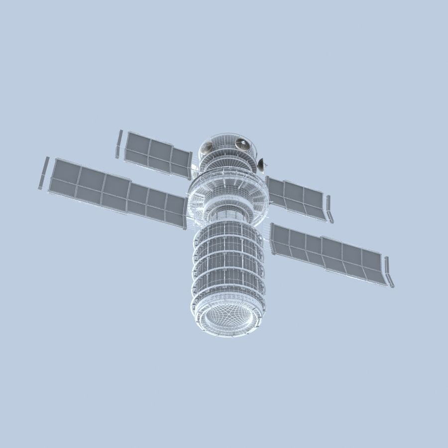 Satellite royalty-free 3d model - Preview no. 8