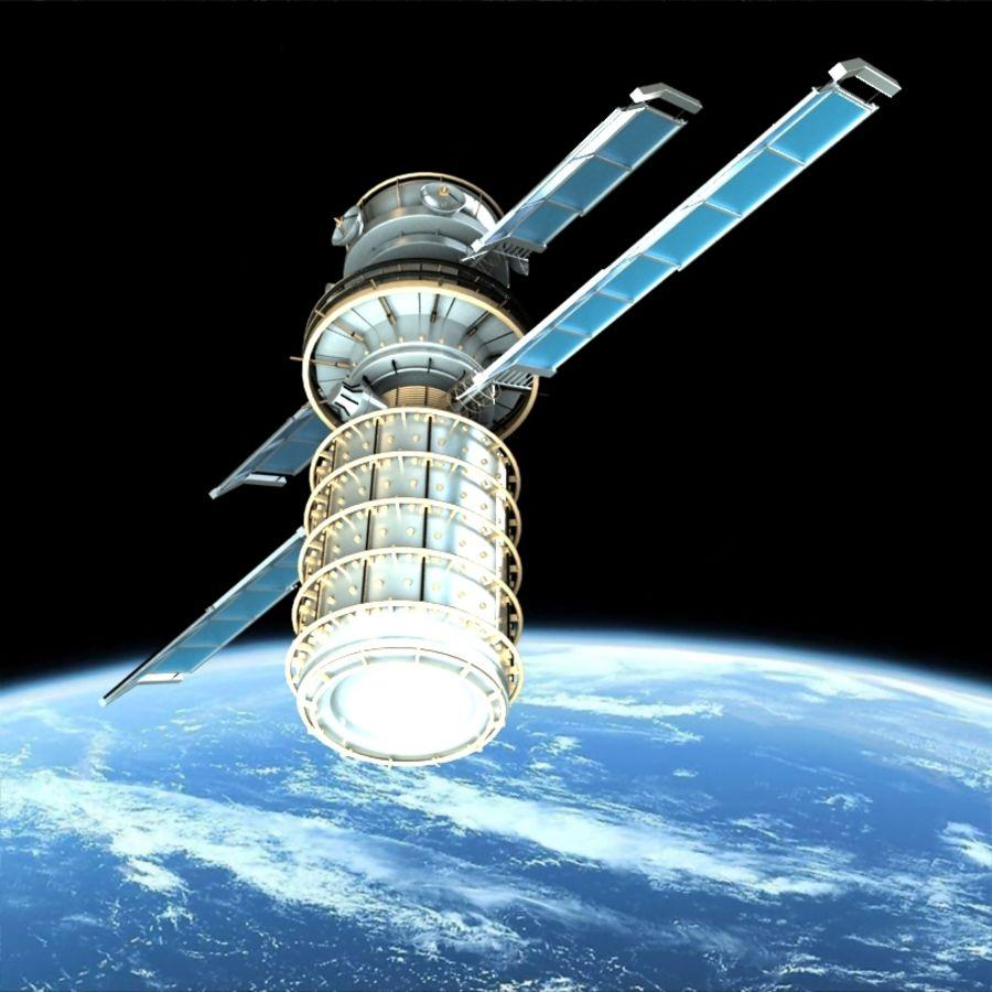 Satellite royalty-free 3d model - Preview no. 3