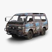 さびた車 3d model