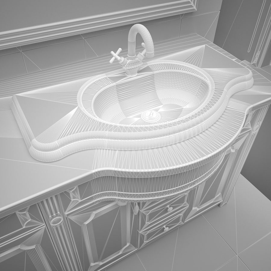 Banyo Mobilyaları 04 royalty-free 3d model - Preview no. 7