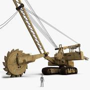 挖掘机 3d model