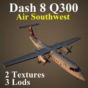 DH8C WOW 3d model