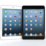 Apple ipad Mini azul e branco 3d model