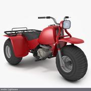 Honda ATC 200E Big Red 1982 (custom) 3d model