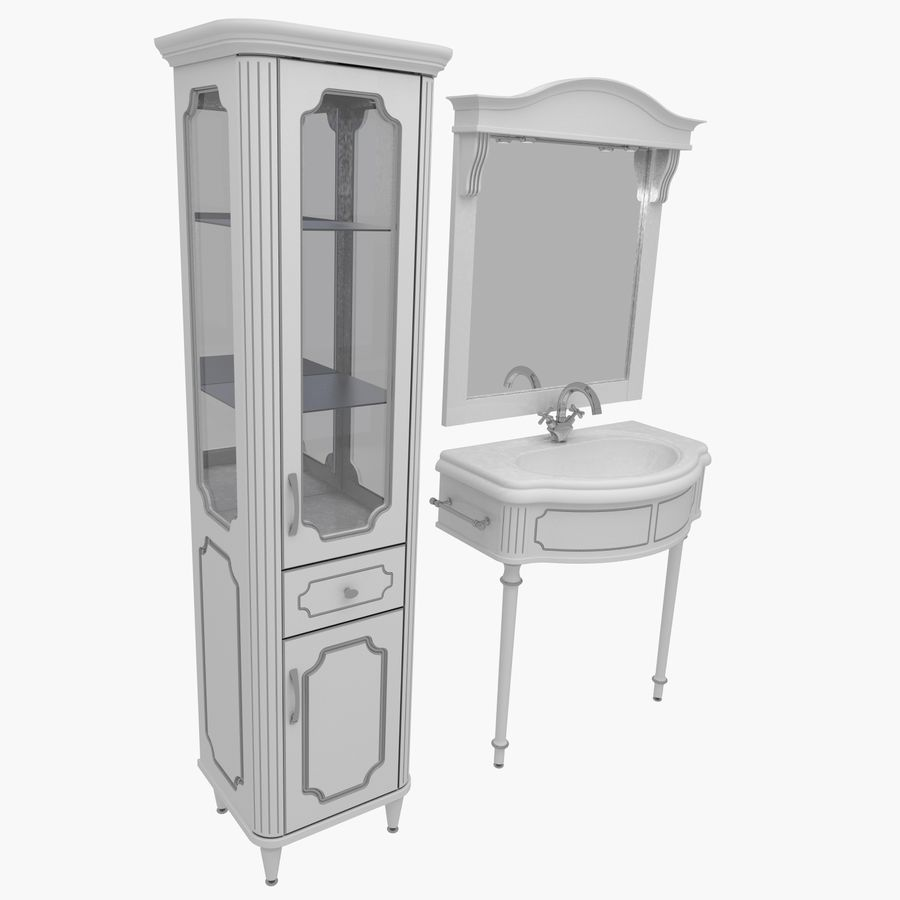 Muebles de baño 13 royalty-free modelo 3d - Preview no. 1