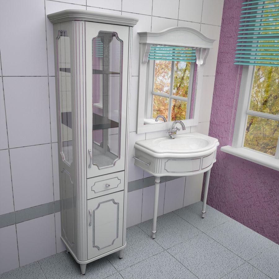 Muebles de baño 13 royalty-free modelo 3d - Preview no. 2