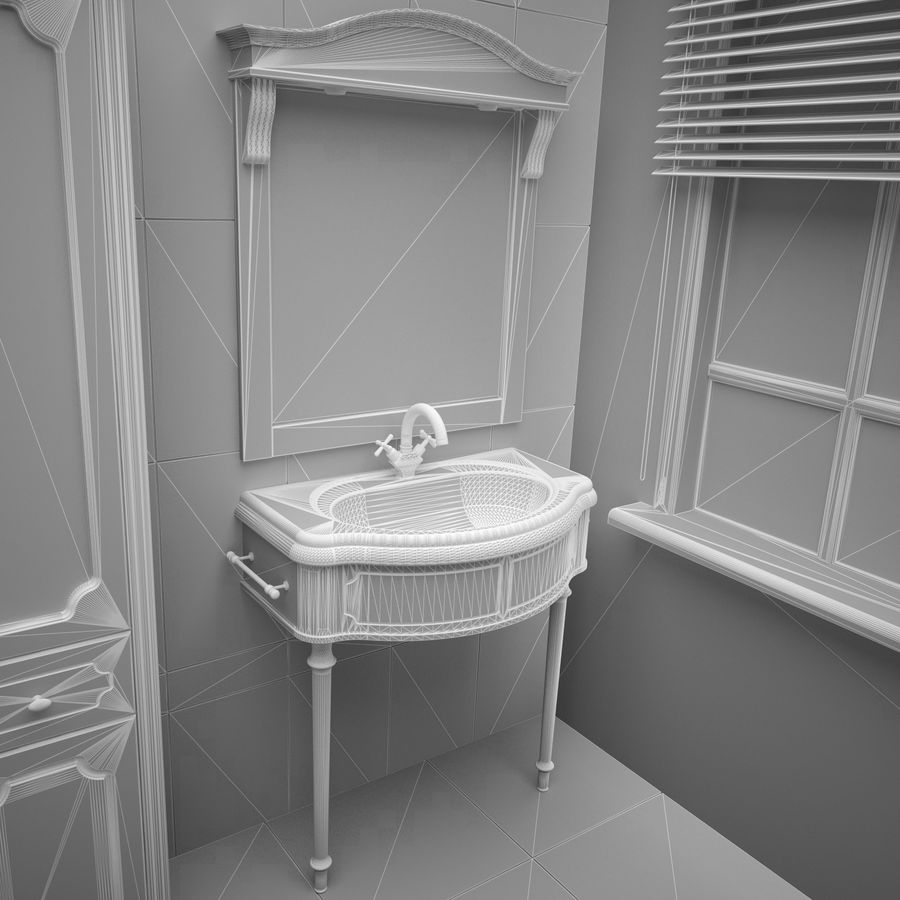 Muebles de baño 13 royalty-free modelo 3d - Preview no. 6