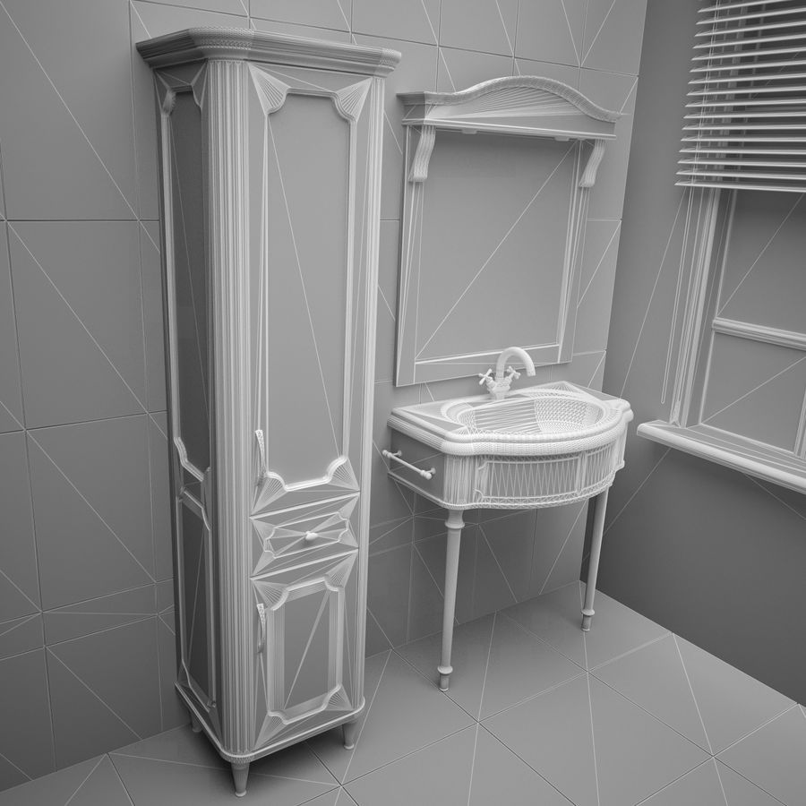 Muebles de baño 13 royalty-free modelo 3d - Preview no. 3
