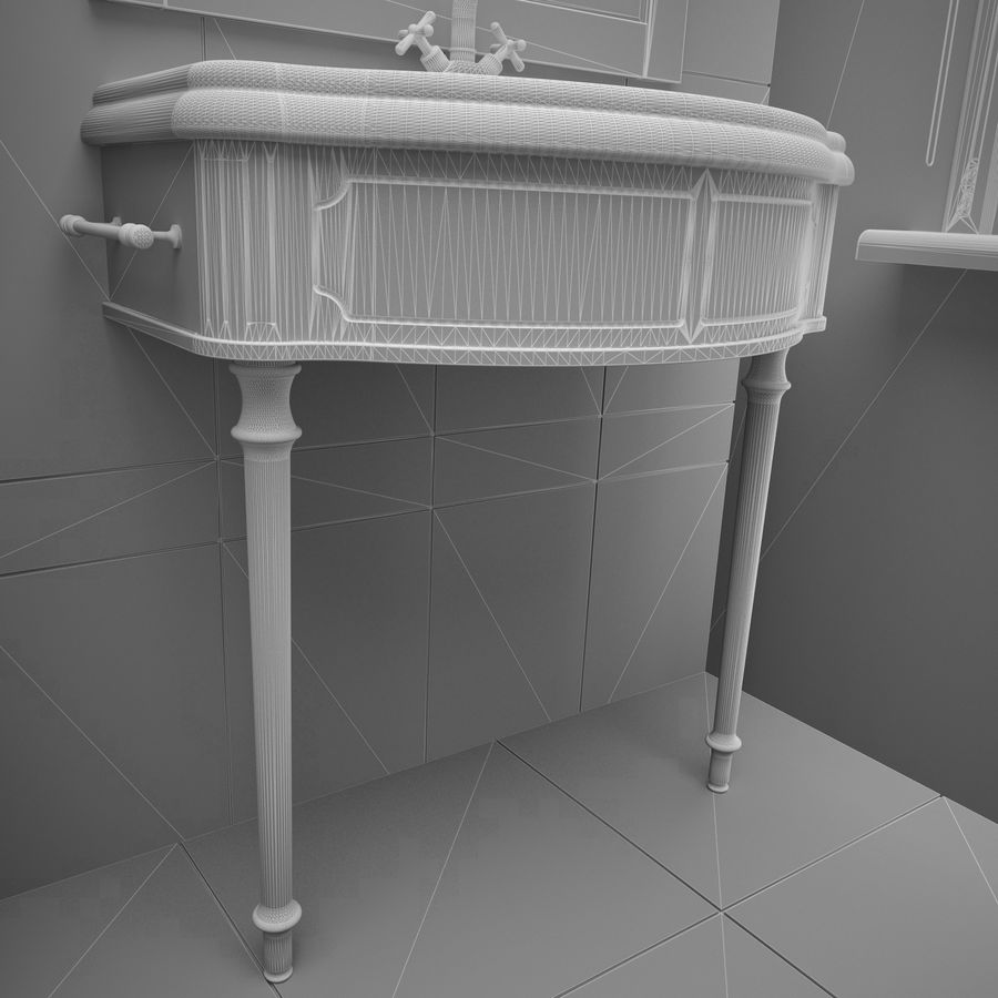 Muebles de baño 13 royalty-free modelo 3d - Preview no. 8