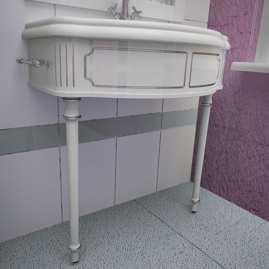 Muebles de baño 13 royalty-free modelo 3d - Preview no. 7