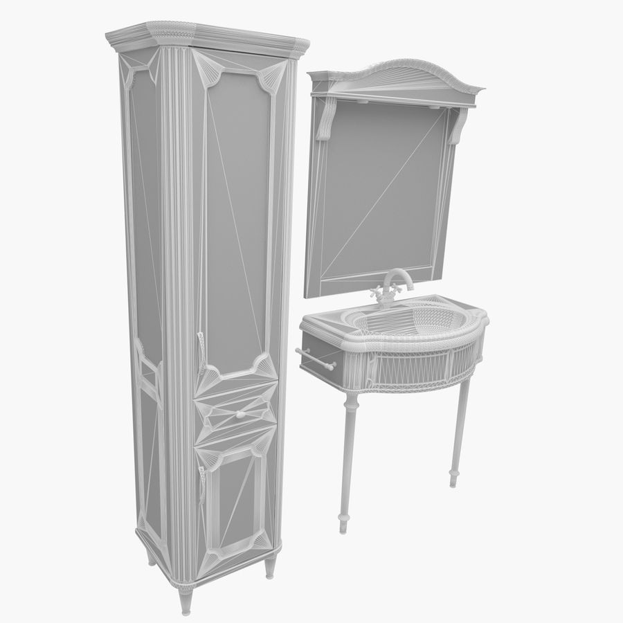 Muebles de baño 13 royalty-free modelo 3d - Preview no. 4