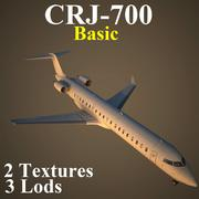 CRJ7 기본 3d model