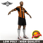 Soccer football player 3d model