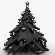 Style de dessin animé de sapin de Noël 3d model