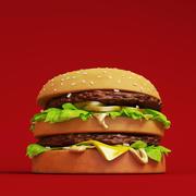 궁극의 햄버거 3d model
