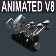 Двигатель V8 3d model