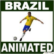 Soccer Player Brazil CG 3d model