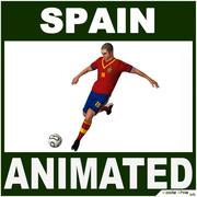 Jogador de futebol Espanha CG 3d model