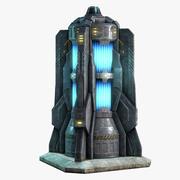 Gerador de ficção científica 3d model
