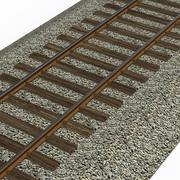 Железнодорожный путь, Узкоколейка 3d model