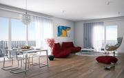 Interior_Livingroom_redsofa 3d model