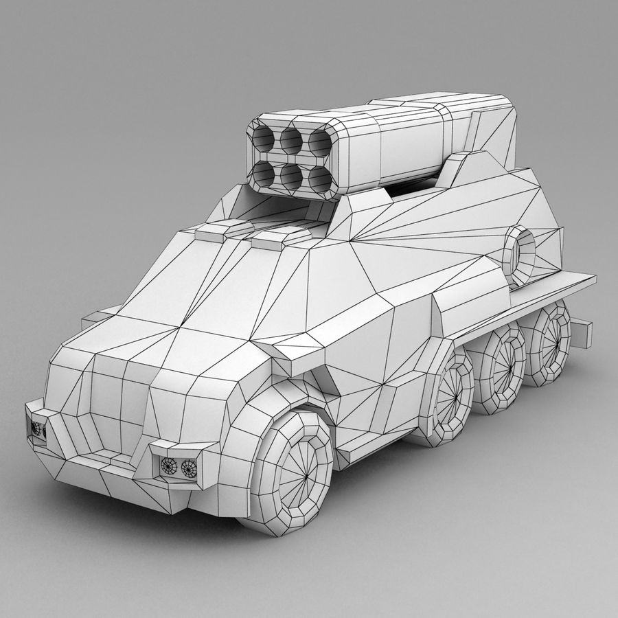 Roketatar Kamyonu royalty-free 3d model - Preview no. 10