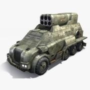 Camión Lanzacohetes modelo 3d