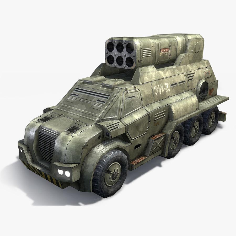 Roketatar Kamyonu royalty-free 3d model - Preview no. 1