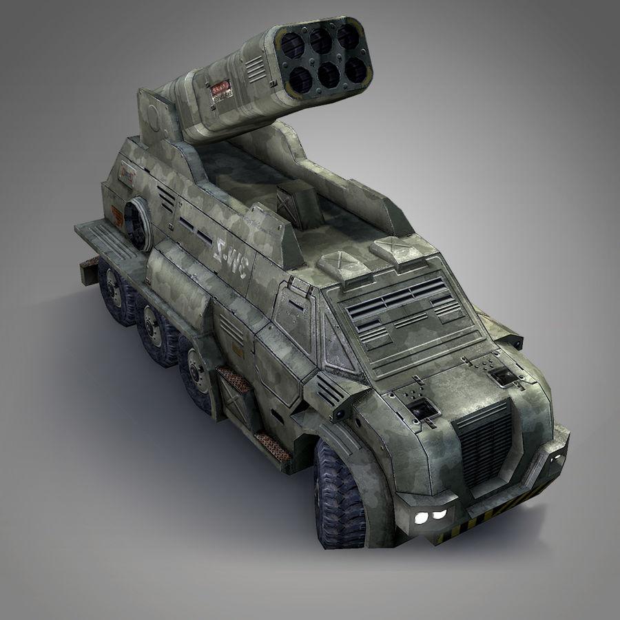 Roketatar Kamyonu royalty-free 3d model - Preview no. 8
