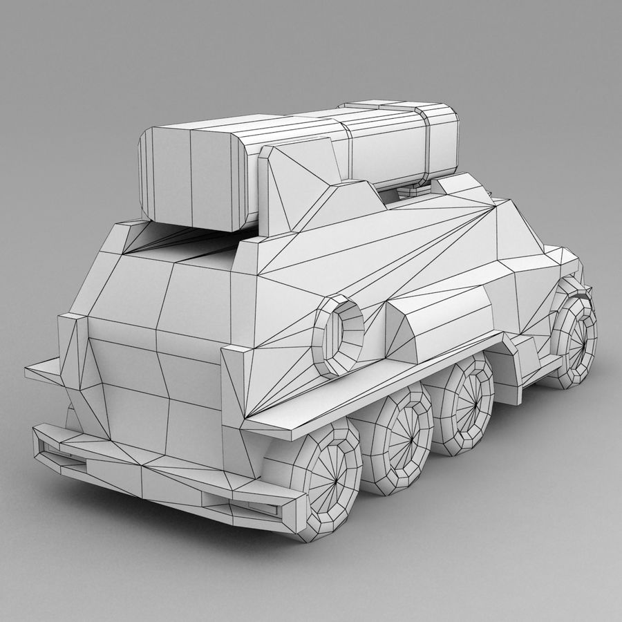 Roketatar Kamyonu royalty-free 3d model - Preview no. 11