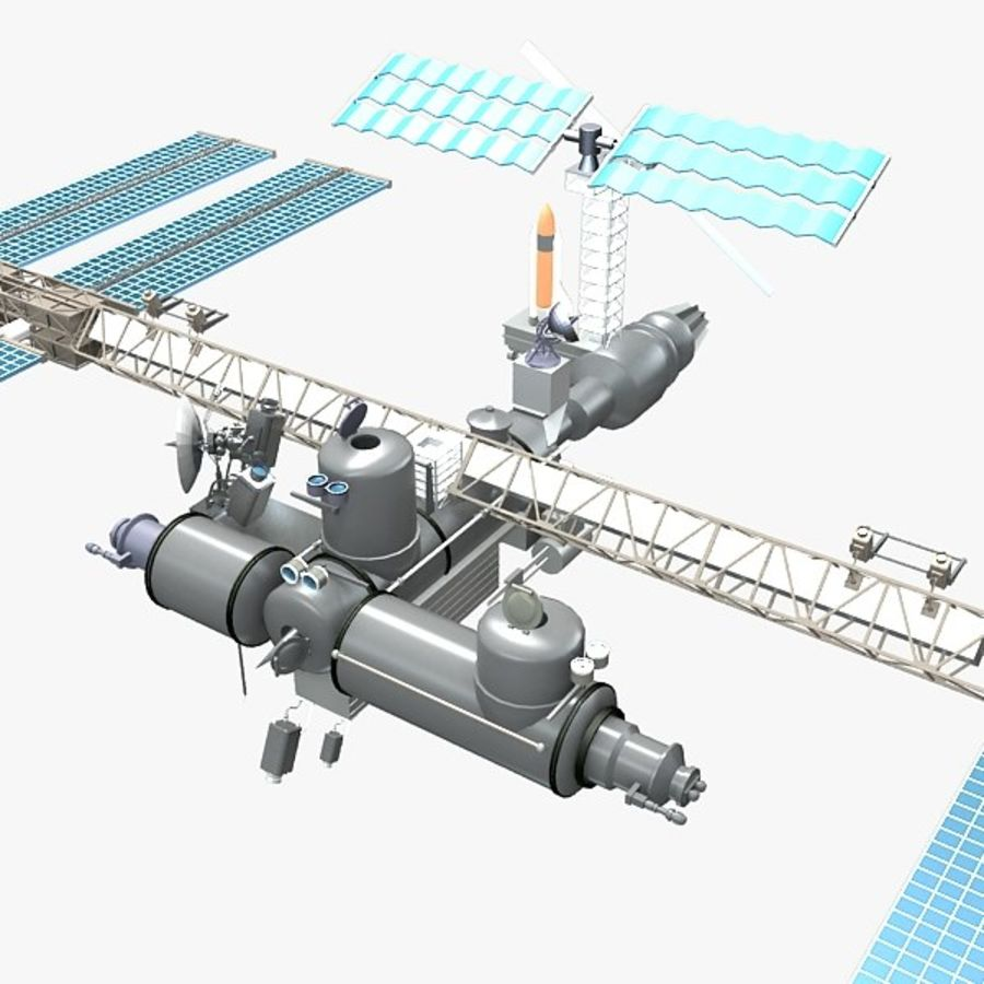 Space Platform royalty-free 3d model - Preview no. 1