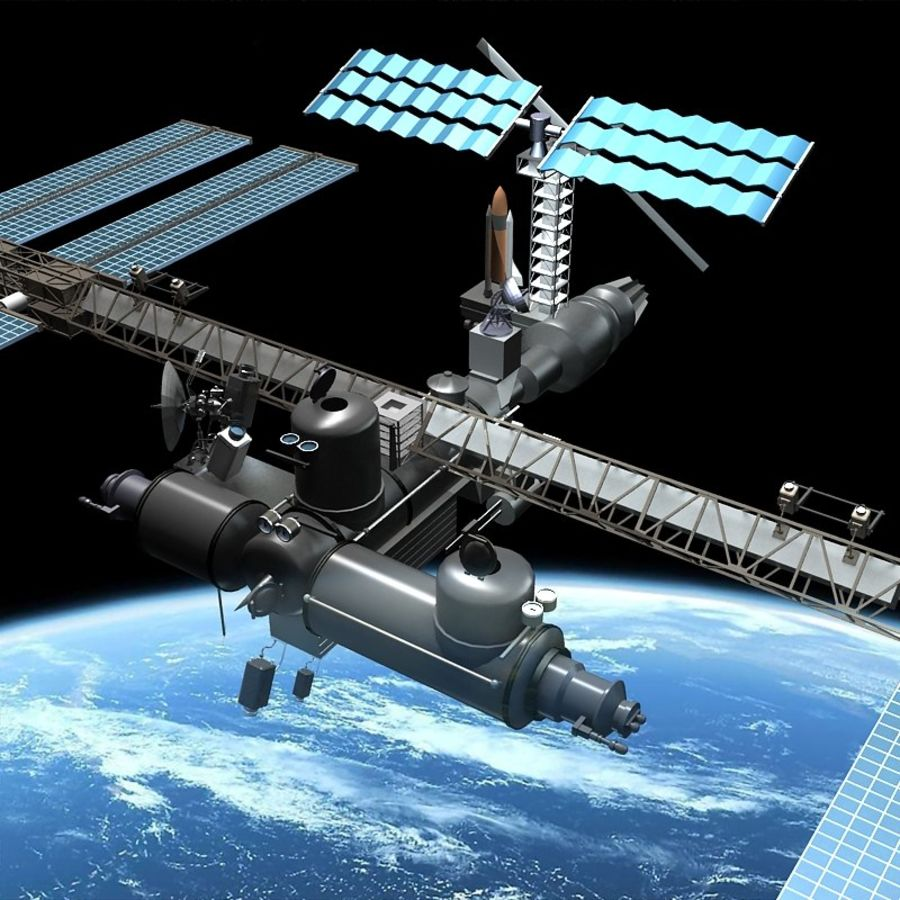 Space Platform royalty-free 3d model - Preview no. 2