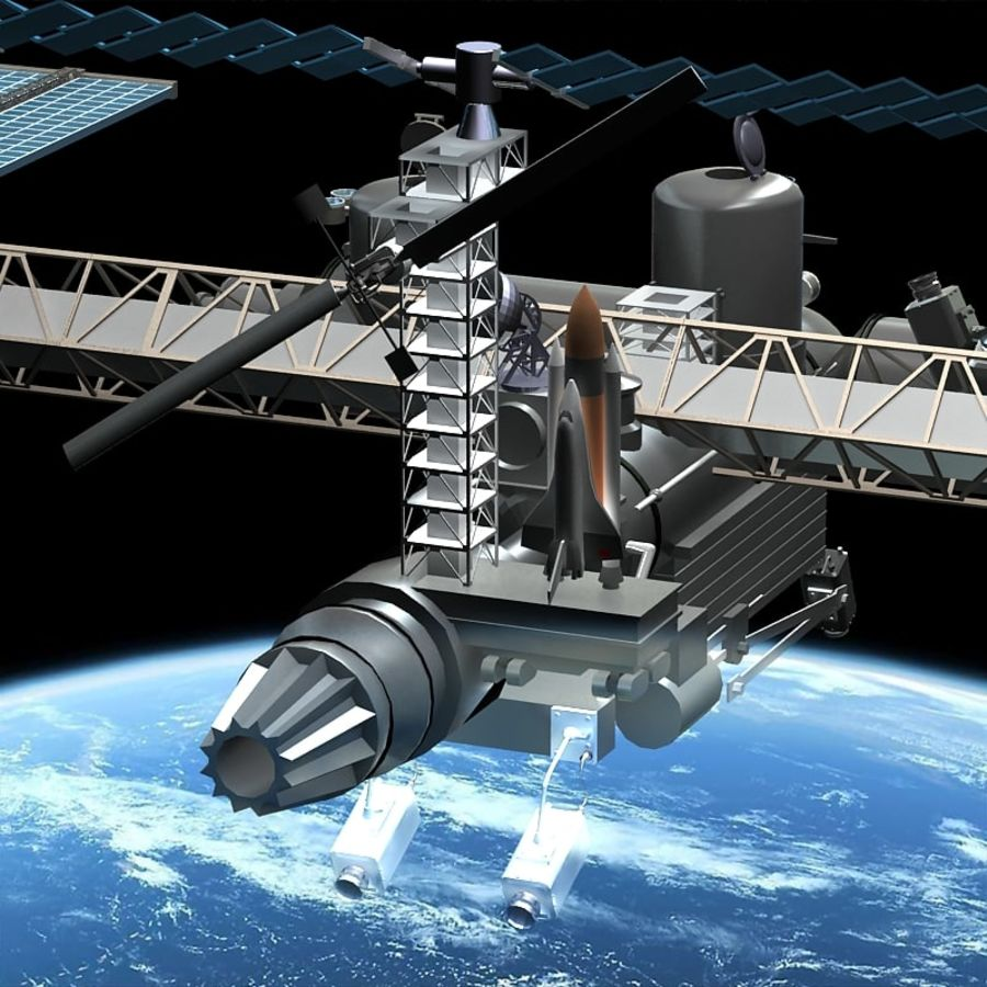 Space Platform royalty-free 3d model - Preview no. 5