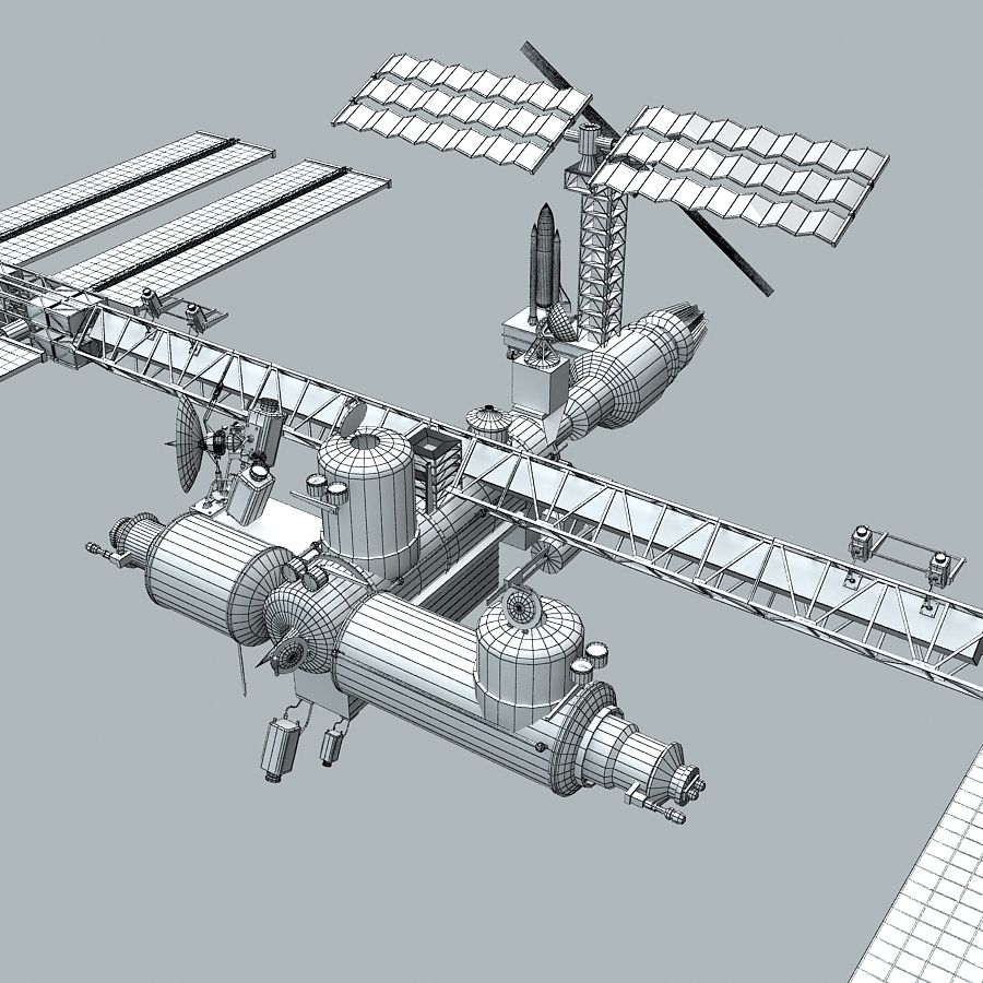 Space Platform royalty-free 3d model - Preview no. 8