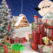 Kerst landschap 3d model
