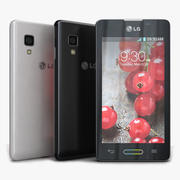 LG Optimus L5 II E460 Preto e Branco 3d model