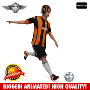 Giocatore di calcio animato 3d model