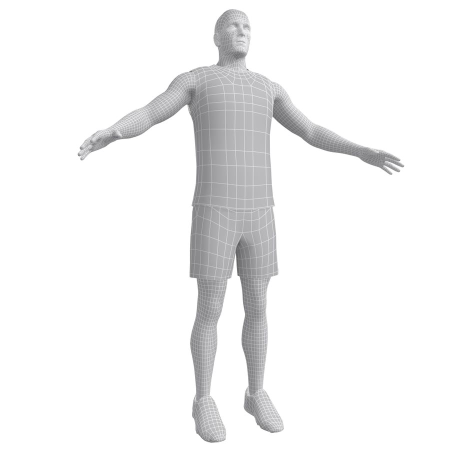 Athlète royalty-free 3d model - Preview no. 16