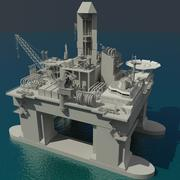 Öl Plattform 3d model