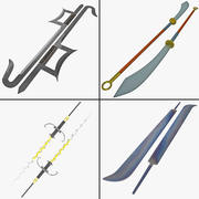 Kolekcja broni z ostrzami 3d model