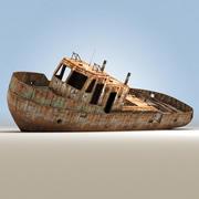 Paslı tekne 3d model