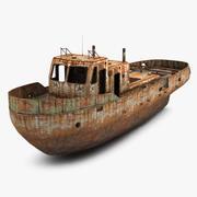Rusty Boat 3d model