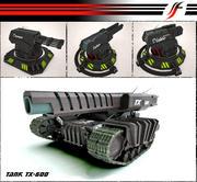 Собрать танк и башню 3d model