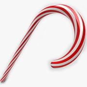Riet van het suikergoed van Kerstmis 3d model