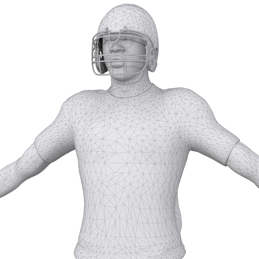 Jugador de fútbol americano royalty-free modelo 3d - Preview no. 12
