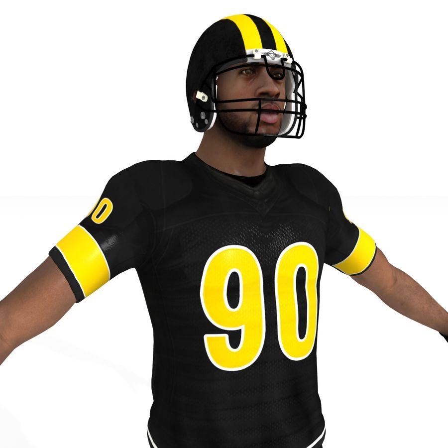 Jugador de fútbol americano royalty-free modelo 3d - Preview no. 6